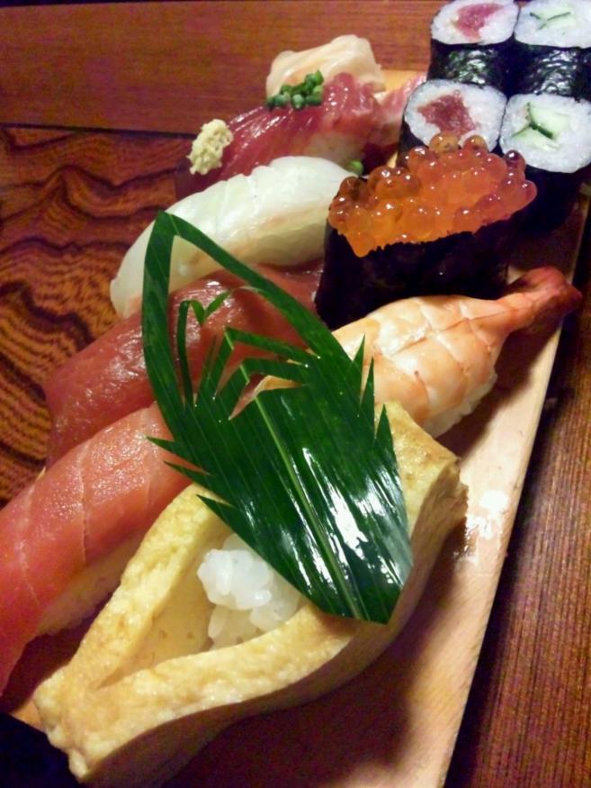 小島瑠璃子 (こじるり)が食べていたお寿司。(公式ブログより)