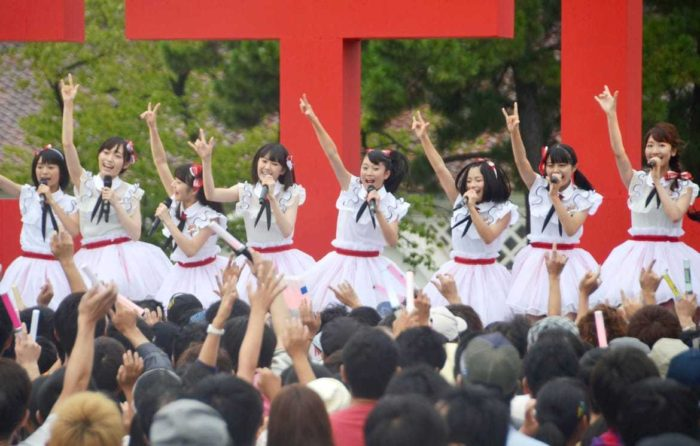 NGT48 debuts in NiigataMembers of the Japanese pop group NGT48 make their debut in the central Japan city of Niigata on Aug. 21, 2015. NGT48 performed two songs, one of which incorporates references to specialties and beauty sports of Niigata.