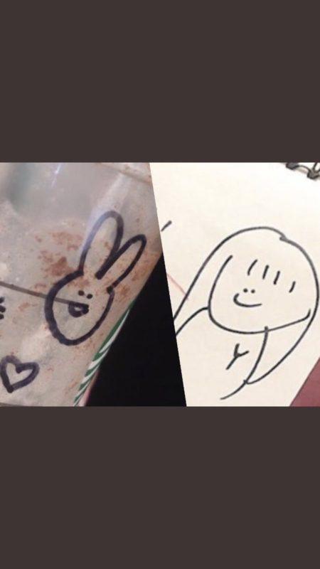 NGT48の荻野由佳 (おぎのゆか) さんの筆跡とスターバックス店員の筆跡を比較3