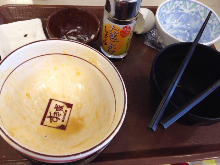 すき家で朝ごはんを食べ終わったニート太郎
