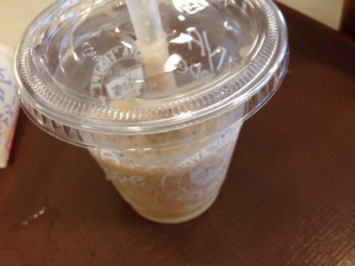 持ち帰ることにした「ミルクコーヒーフラッペ」