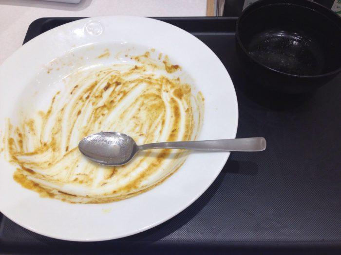 あっという間に食い終わった創業ビーフカレー